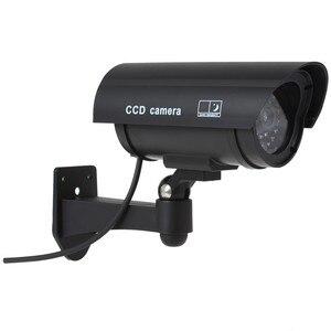 Image 2 - OwlCat wodoodporna/zewnętrzna atrapa kamera ochrony sztuczna kamera/kula Emulational kamera kamera telewizji przemysłowej nadzór domowy LED/Flash