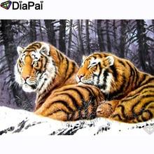 DIAPAI 100% Full Square/Round Drill 5D DIY Diamond Painting Animal tiger Diamond Embroidery Cross Stitch 3D Decor A21052 diapai 5d diy diamond painting 100% full square round drill animal cat tiger diamond embroidery cross stitch 3d decor a22099