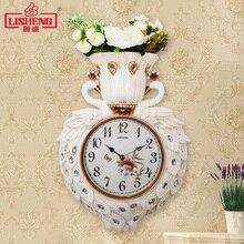 Павлин, цветок настенные часы в европейском стиле гостиная немой творческой личности часы на цепочке художественное украшение дома настенные часы