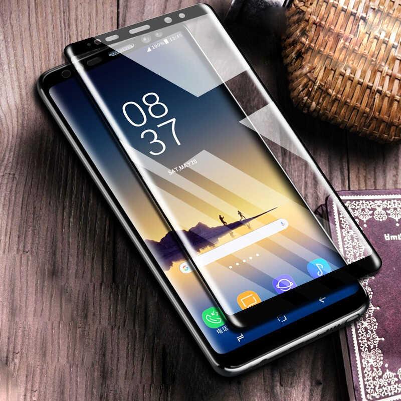 5D الزجاج المقسى لسامسونج غالاكسي S9 الزجاج لسامسونج S8 S9 plus نوت 8 S9 واقي للشاشة غطاء كامل فيلم ل نوت 9