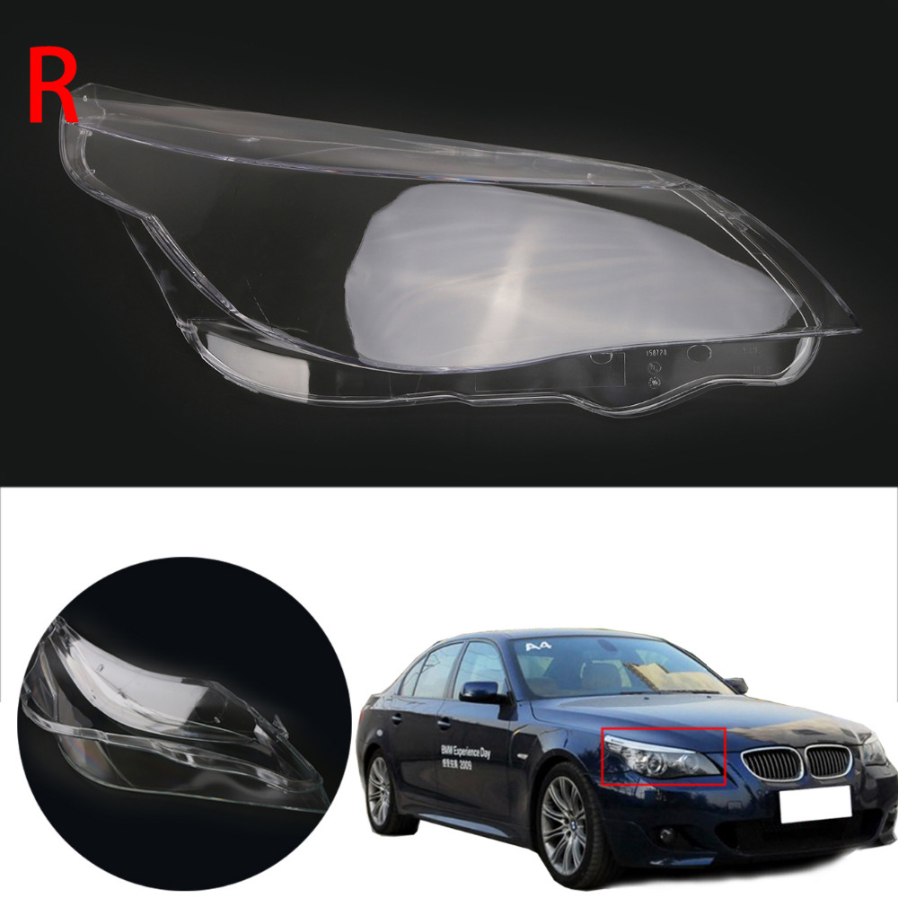 Right Side Headlight Lens Cover Head Lamp Assembly for For BMW 5 series E60 M5 E61 525i 530i 528i 535i 540i 550i 545i #N001-R right combination headlight assembly for lifan s4121200
