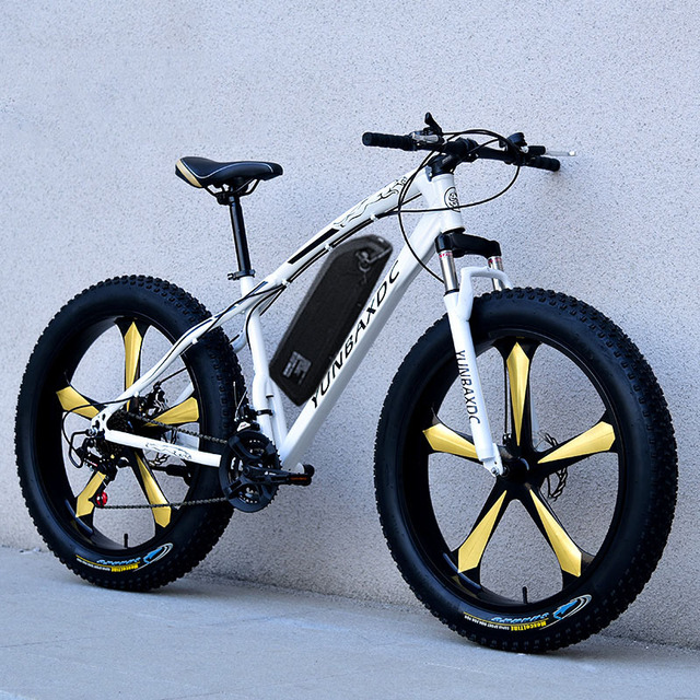 26inch snow electric mountain bicycle 48V lithium battery 750w motor fat ebike 4.0 tires  high speed brushless electric bike