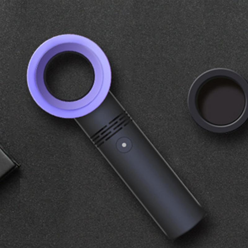Mini Fan USB Rechargeable Portable Bladeless Fan Handheld No Leaf Cooling Fan Summer Air Cooler 3 Speeds Agjustable