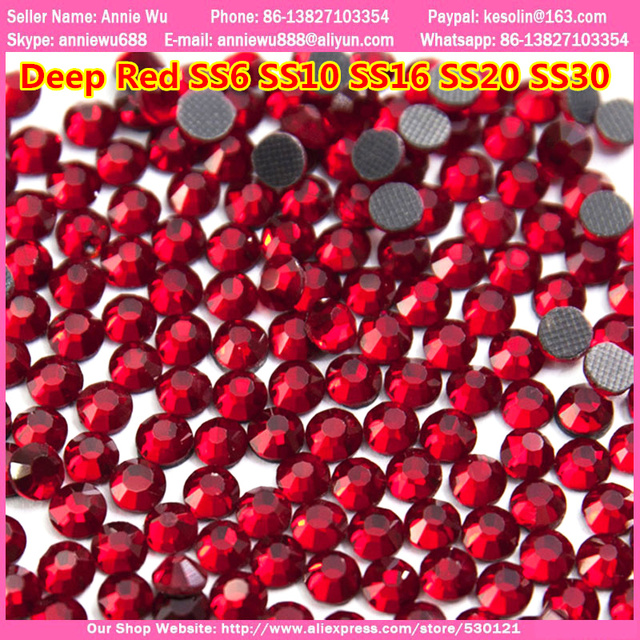 SS20 4.6-4.8mm 1440pcs bag Deep Red DMC HotFix Flatback Rhinestones Heat  Transfer 60dc9d45d0a9