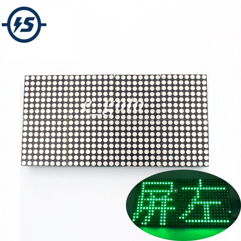 16x32 Dot Matrix Control Display Module DIY Kit Dual-Color Red Green Electronic Fun Kit