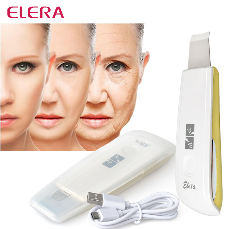 New Ultrasonic Ion Skin Scrubber Rechargeable Ultrasound Microdermabrasion Deep Clean High Frequency Vibration Face Massager Spa