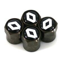 Car-styling Carbon black car Tire Valve Caps case for Renault accessories 4pcs/set