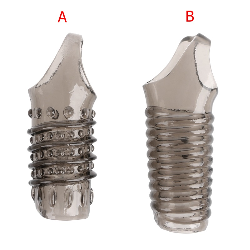 Reusable Cock Ring Penis Sleeves Cock Extender Penis Ring Condoms With Scrotum Rings Erection Erotic Toys For Men