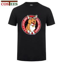 Hombre Tops Tees Man Cowboy Bebop T shirts See You Space Cowboy Men T-shirt Space Corgi Short Sleeve Custom Group Brand Clothing