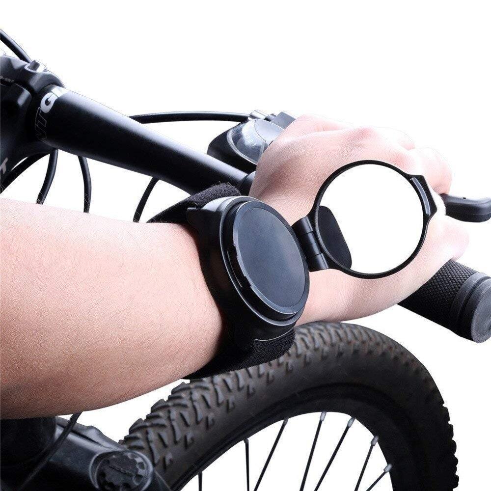 Cycling Wrist Band Strap Bike Rear View Reflex Mirrors  Cycling Accessories