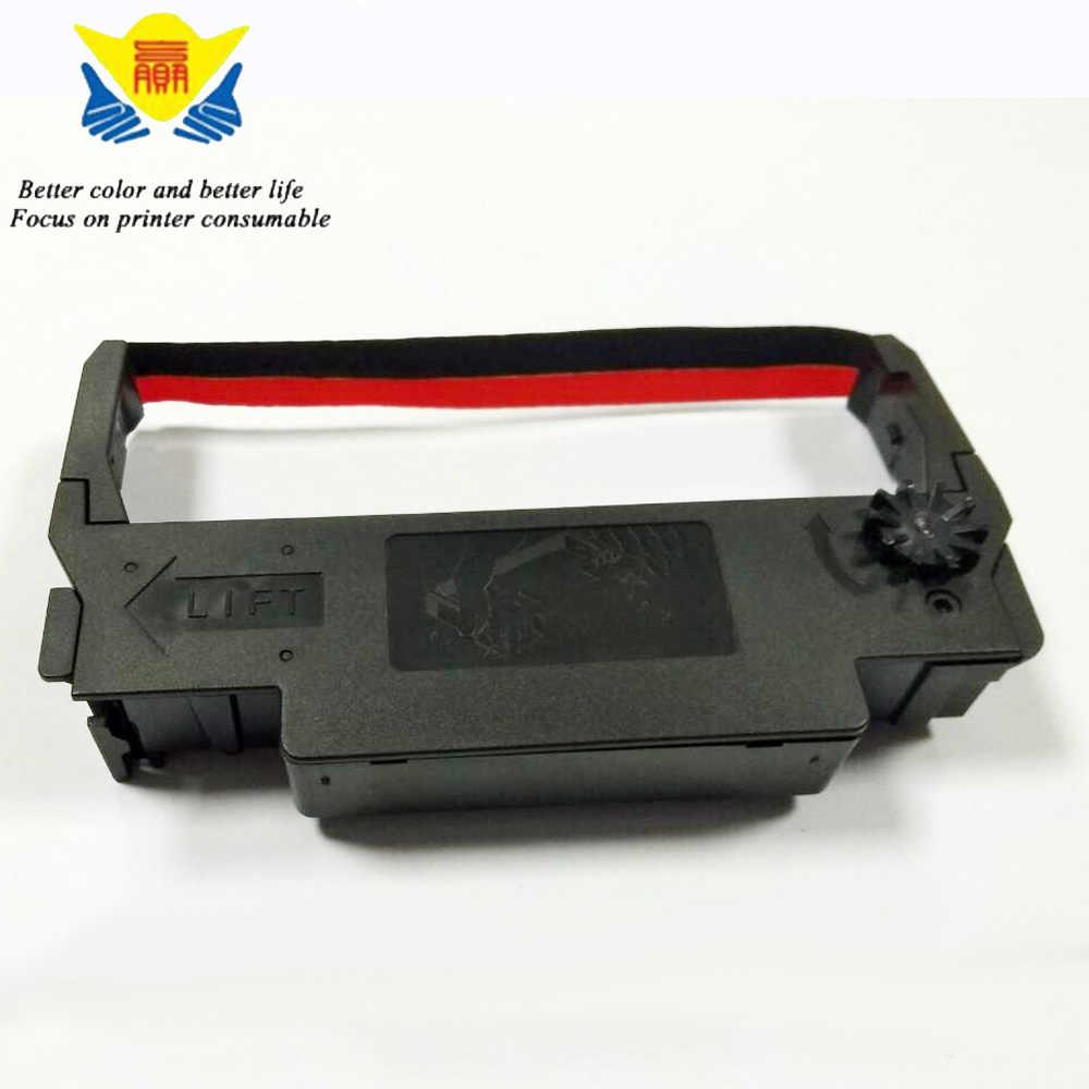 JIANYINGCHEN ใช้งานร่วมกับพิมพ์ริบบิ้น 12.7 มิลลิเมตรสำหรับ Epson ERC30 ERC34 ERC38 (10 ชิ้น/ล็อต) สีดำและสีแดง