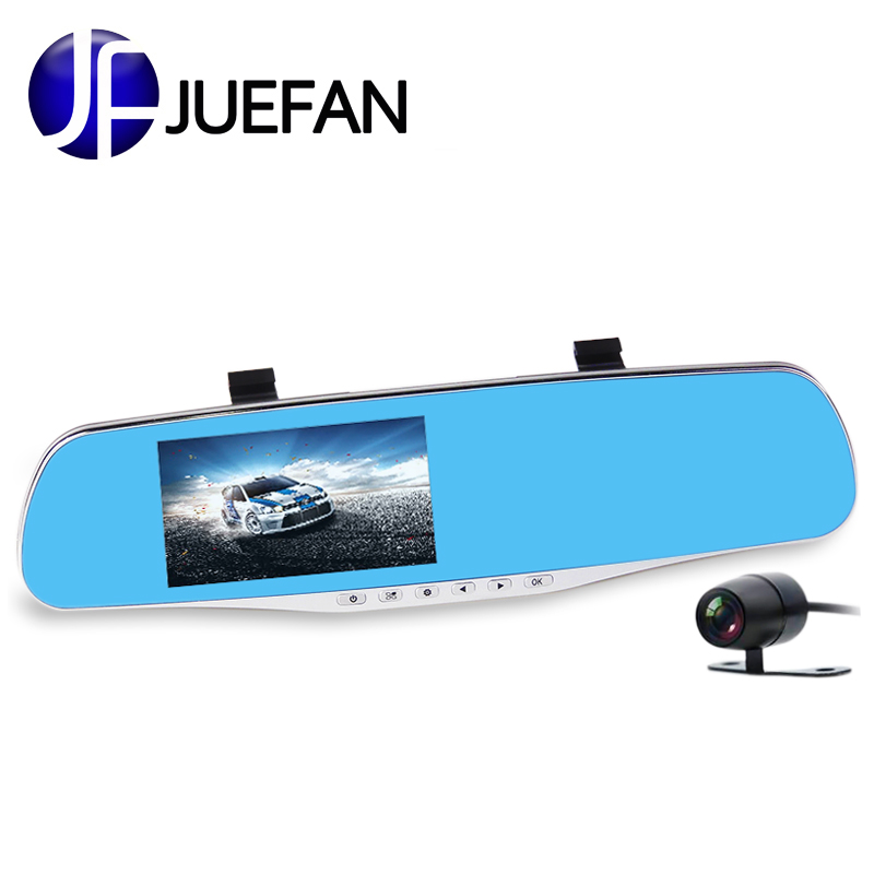 Car DVR Camera Review Mirror FHD 1080P Video Recorder Night Vision Dash Cam Parking Monitor Auto Registrar Dual Lens Car charger image