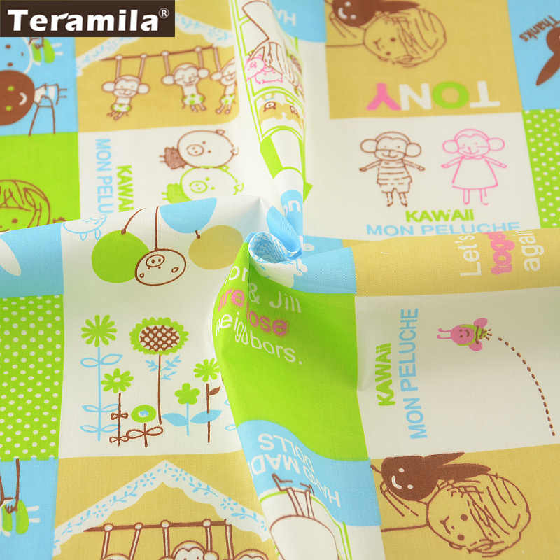 News 100% Cotton Fabric Twill Cartoon Designs Tecido for Bedding Clothing Baby Quilting Sewing Patchwork Fabrics Tissue