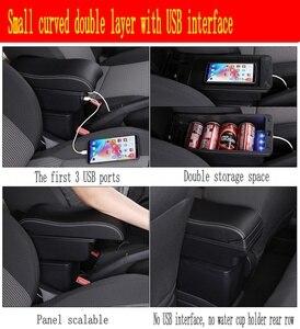 Image 4 - Für Polo armlehne box Polo V universal 2009 2018 auto center konsole änderung zubehör doppel angehoben mit USB