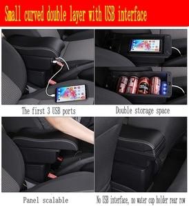 Image 4 - Polo için kol dayama kutusu Polo V evrensel 2009 2018 araba merkezi konsol modifikasyon aksesuarları çift yükseltilmiş USB
