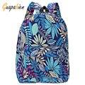 Guapabien 2016 мода холст сумки ретро случайный мешок школы дорожные сумки женщины рюкзаки печати листья рюкзак mochila рюкзак