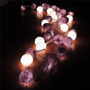 Image 2 - Thai bola linha luzes LED corda luzes de Natal luzes do festival bar pavimentação adorno adorno janela do flash
