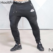 HooltPrinc 2017 Brand New Gold Medal Fitness Casual Elastic Pants Stretch Cotton Men's Pants Jogger Bodybuilding