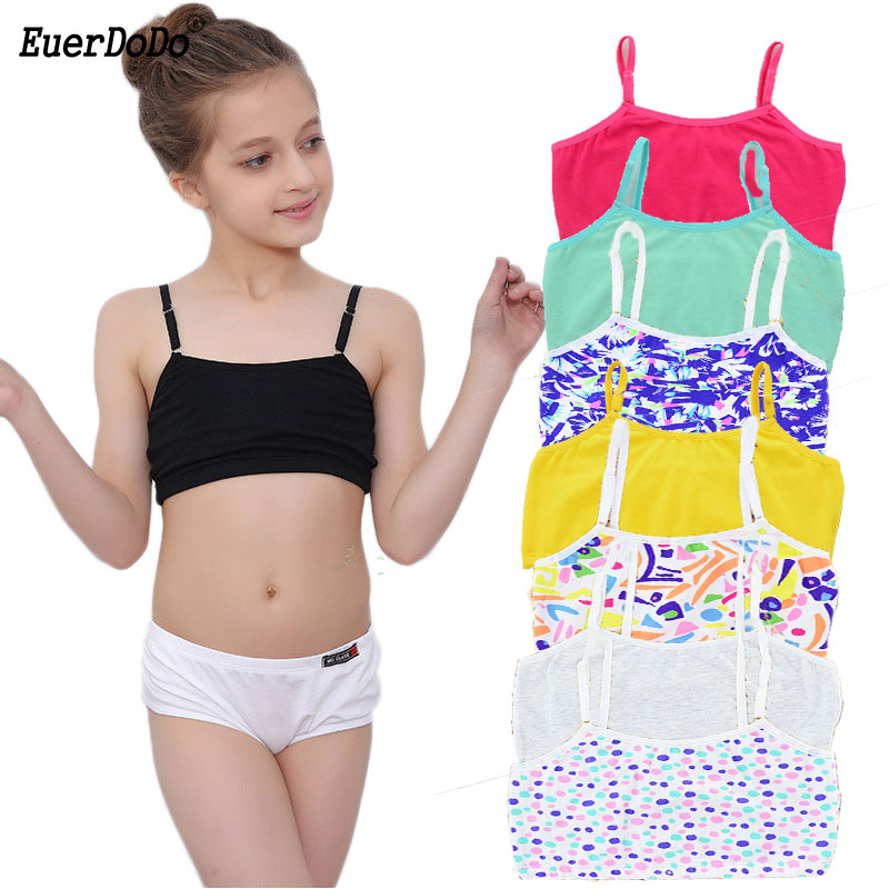 Summer Tank Tops For Girls Cotton Children Underwear Fashion Girl Undershirt Colored Kids Camisole Teenager Singlets Clothing