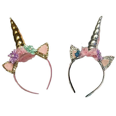 цены Emmababy Newborn Baby Girls Unicorn Accessories Unicorn Headwear Cute Horn Headwear Party Kid Hair Headband Fancy Dress Cosplay