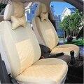 Universal 2 unids en los asientos delanteros FUNDAS de ASIENTO de COCHE Para Audi A6L R8 Q3 Q5 Q7 S4 Quattro A1 A2 A3 A4 A6 A8 negro/gris coche accesorios