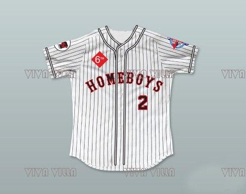 Warren G 2 Homeboys Pinstriped Baseball Jersey Stitched Men Music Television Rock Jock Baseball Jereys Free Shipping