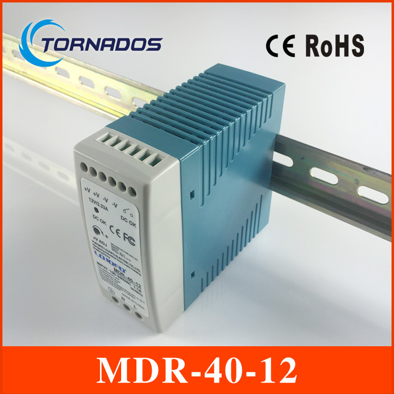 din mounting small size thin MDR-40-12 Industrial DIN rail Mini switching power supply for LED driver 12v 3.33A 40W ac dc f3125 industrial vpn gsm gprs router with din rail mounting for atm solar pv projects