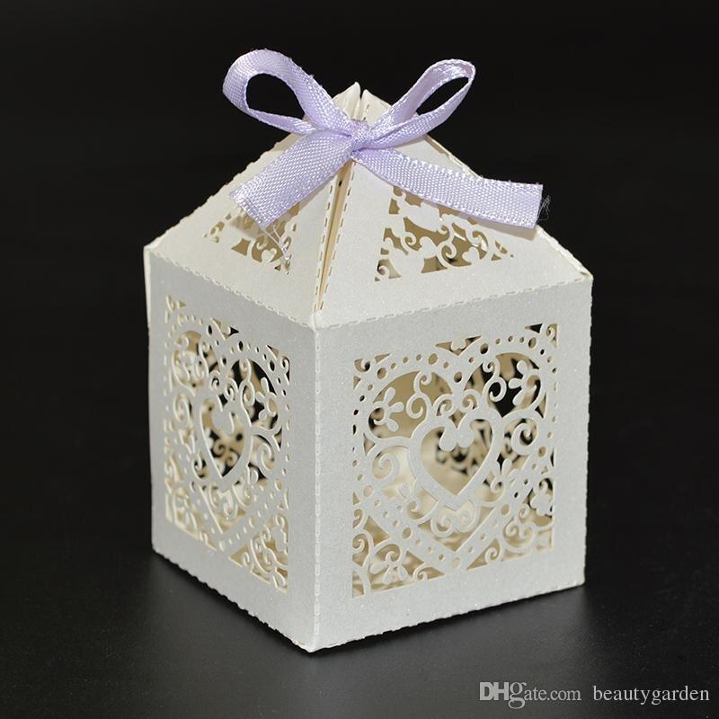 60 יח'\חבילה מסיבת חתונת סוכריות Box מיני ממתק שוקולד אריזת נייר מתנה מתוקה צורת לב מקרה מחזיק תיק wc147