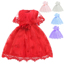 Free Shipping Cotton Lining 6M-24M Infant Dresses 2019 New Arrival Baby Dress For Girl 1 Year Birthday Toddler Christening Gowns