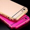 I5 de metal de alumínio caso capa para apple iphone 5 5s se ultra fina 0.5mm duplo híbrido quadro + tampa do telefone de volta shell para o iphone 5s se