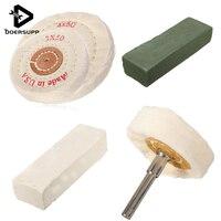 Best Price Polishing Wheel Kit 3 Wheels Arbour 2 Polishing Bars For Metal Jewelry Wood New