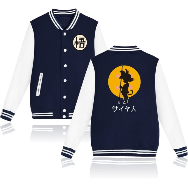 Dragon Ball Z Men Baseball Jacket Sweatshirt Hoodie