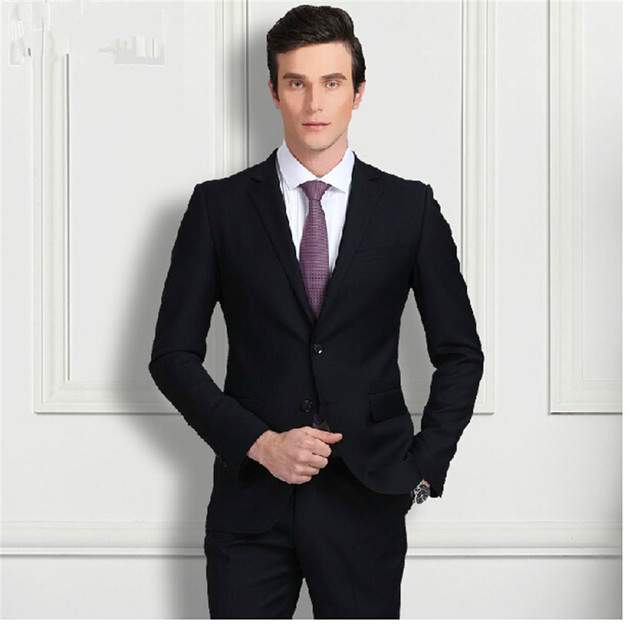 Men Dress Suit Male Business Professional Attire Groom Send Tie Order Custom Wedding Dresses