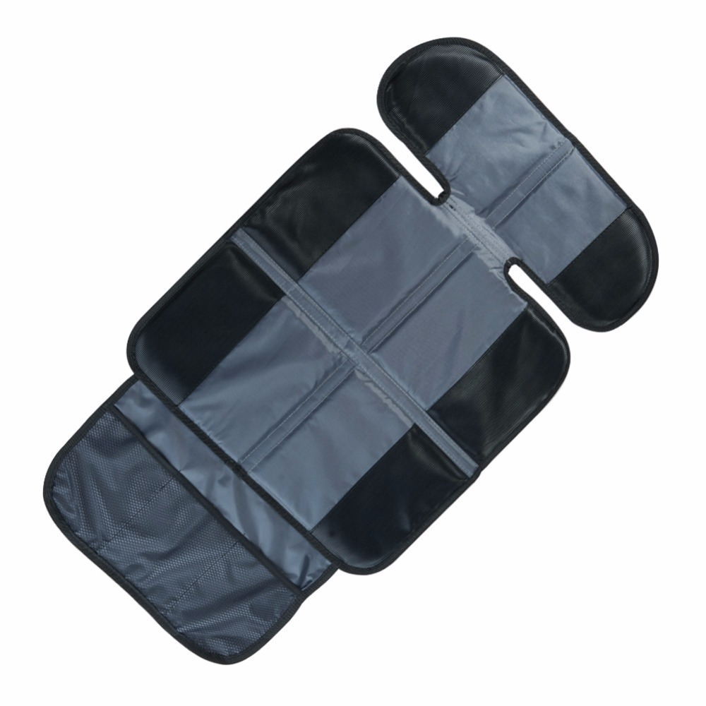 Black&Gray Car Baby Seat Cover Infant Baby Car Seat Back Non Skid Protector Cover For Kids Baby Kick Waterproof Mat for Bay Seat
