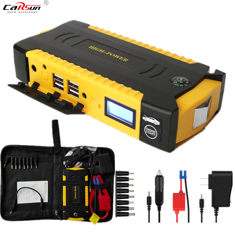 CARSUN 600A Peak Current Portable Car Jump Starter Starting Device Power Bank Multi-function Charger For 12V Diesel Car Starter 13500mah 12v multi function mobile power bank tablets notebook phone ca r auto eps starter emergency start power