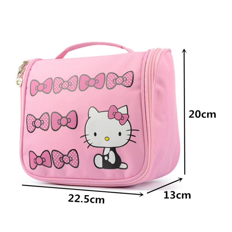 5d096a38f0ee Hello Kitty Hanging Cosmetic Toiletry Bag Travel Organizer Beautician  Necessary Functional Makeup Pouch Case Accessories Supply-in Cosmetic Bags    Cases ...