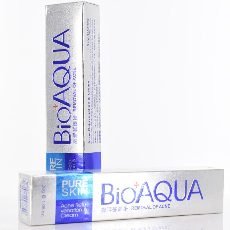 BIOAQUA Anti Acne Treatment Face Cream Moisturizing,Firming Skin,Shrink Pores,Oil Control,Anti Wrinkle Face Care Day Cream