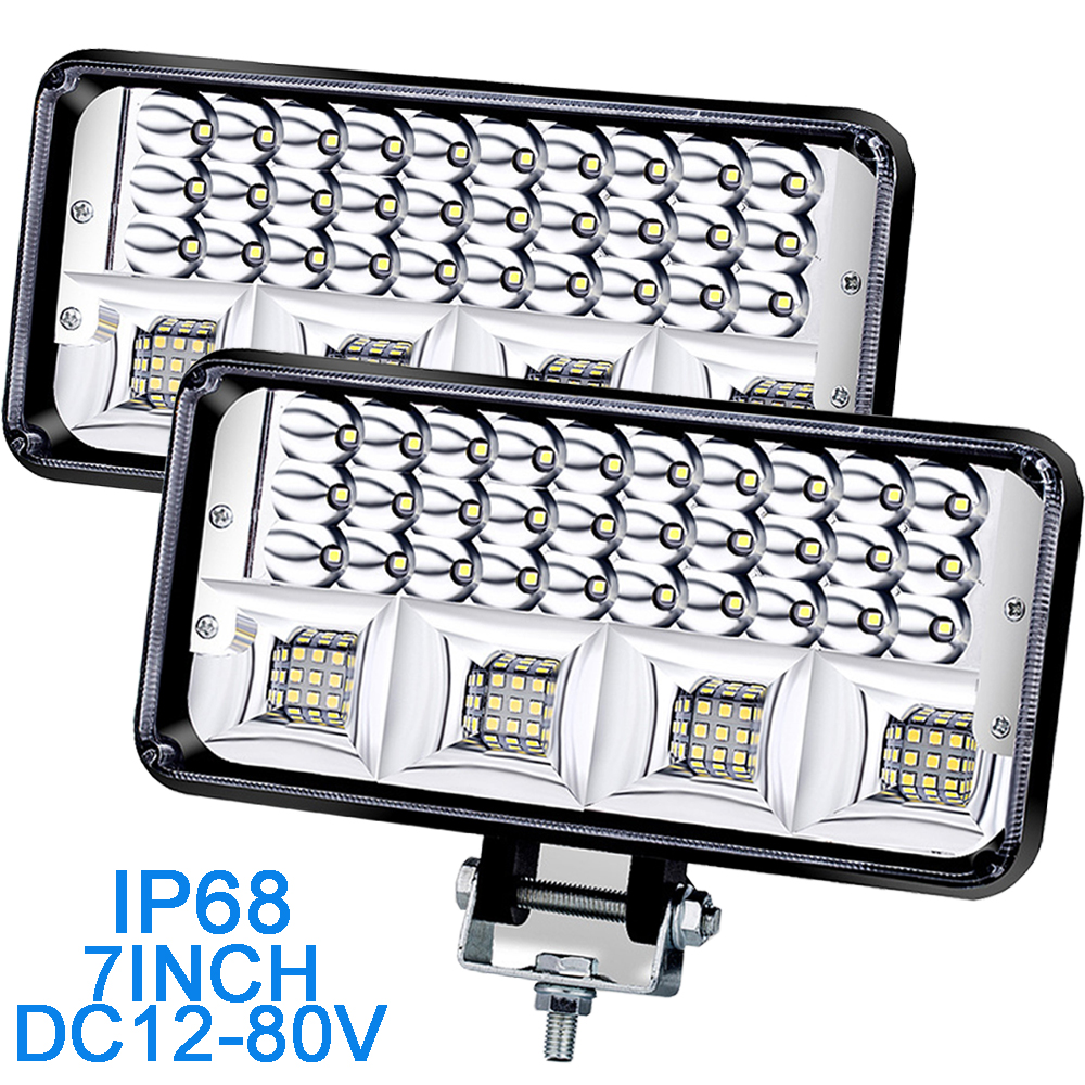 7inch 12v 24v Car Work Light 4x4 Off Road Led Light Bar Trucks lights Focos led automovil ramp accessories for jeep cherokee xj