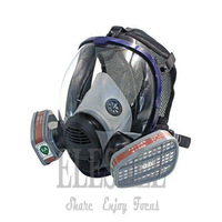 New Industrial 6800 Full Gas Mask Respirator With Filtering Cartridge For Painting Spraying Similar For 3M