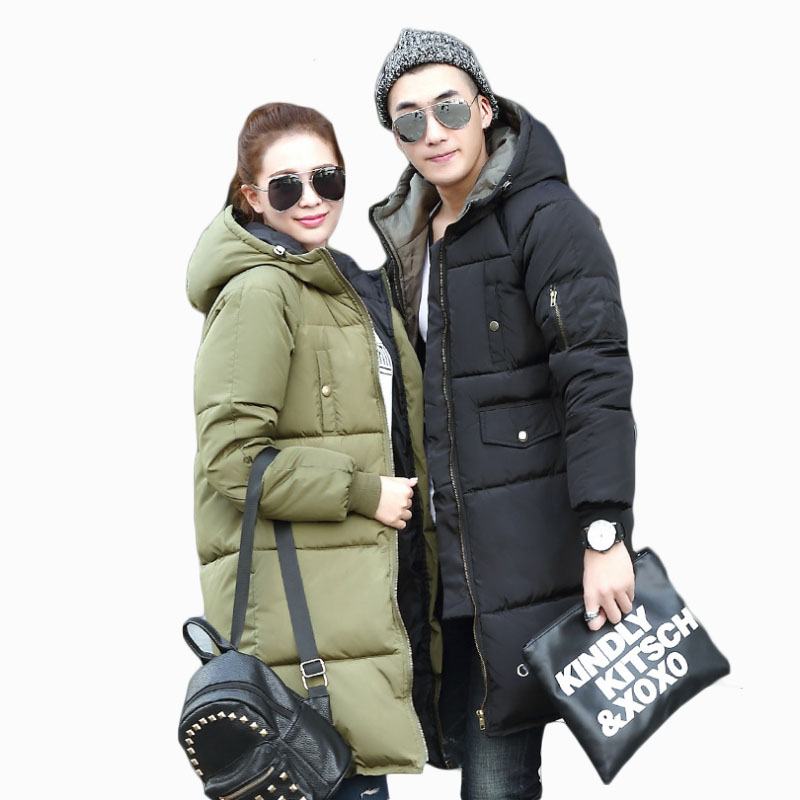 2018 NEW HOT WOMEN/MEN WINTER JACKER MID-LENGTH PLUS SIZE THICKEN WARM LOVER PARKAS COTTON WADDED COAT HIGH QUALITY ZL585
