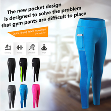 2019 New Sexy Girls Pocket Gym Yoga Long Pants Sports Trousers Women Compression Running Skinny Fitness Tight Leggings