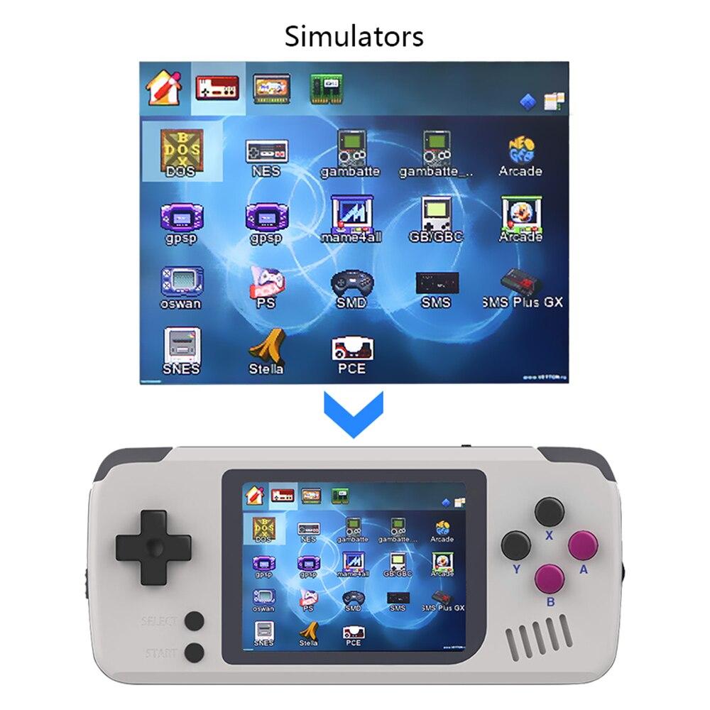 Console de jeu, PocketGo, Console de jeu vidéo rétro portable, 2.4 pouces écran portable enfants joueurs de jeu avec carte mémoire - 3