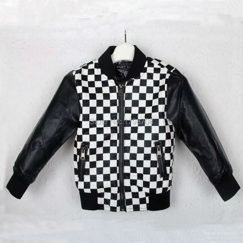 2015 Winter Brand Desing Top Quality Fashion Baby Boys Leather Jackets 4 14 Year Fashion Designer Jackets Kids Clothing Plaid Jacket Camera Clothing Cabinetjackets Babies Aliexpress