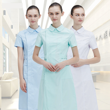Ladies Medical gown Medical Lab Coat Hospital Doctor Slim Multicolour Nurse Uniform summer medical Overalls