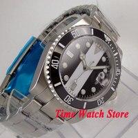 40mm Bliger men's watch sapphire glass black white dial super luminous ceramic bezel Automatic movement wrist watch men 102|Mechanical Watches| |  -