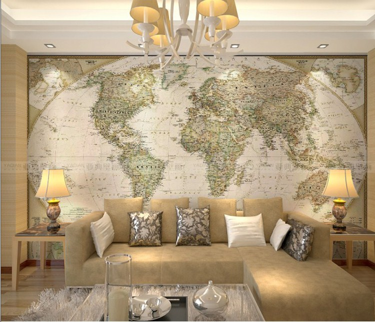 Large world map wallpaper mural office living room bedroom sofa large world map wallpaper mural office living room bedroom sofa background wallpaper dimensional woven continental in wallpapers from home improvement on gumiabroncs Choice Image