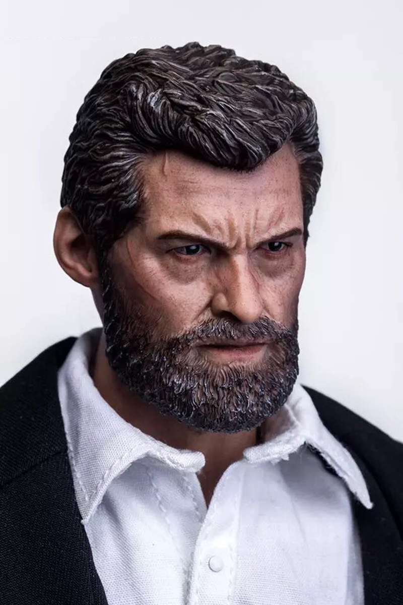 "1:6 Wolverine Hugh Jackman Head Sculpt Model Carved F//12/"" Male Action Body Model"