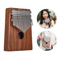 Ammoon Kalimba Mbira Sanza Thumb เปียโน 10 คีย์/17 คีย์ Hawaiian Koa ไม้พร้อมกระเป๋าหนังสือเพลงดนตรีขนาดสติกเกอร์