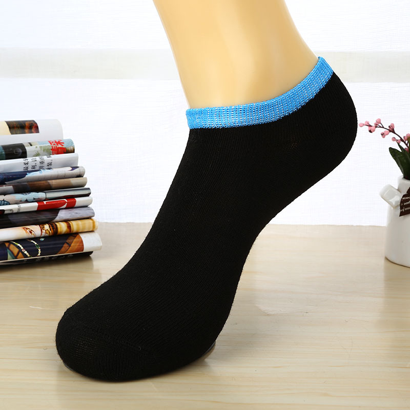 1 Pair Men Low Cut Ankle Socks Casual Soft Cotton Loafer Boat Non Slip Invisible No