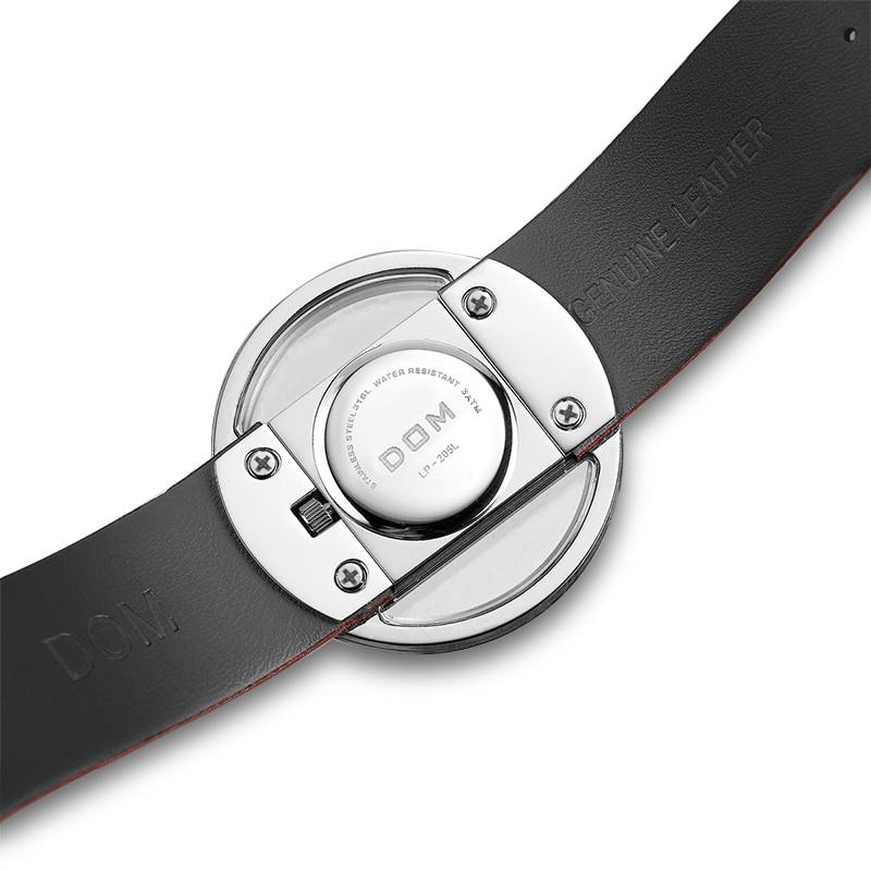 DOM Watch Women luxury Fashion Casual 30 m waterproof quartz watches genuine leather strap sport Ladies elegant wrist watch girl 4